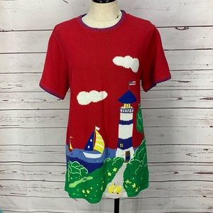 The Quacker Factory Lighthouse Small Sweater